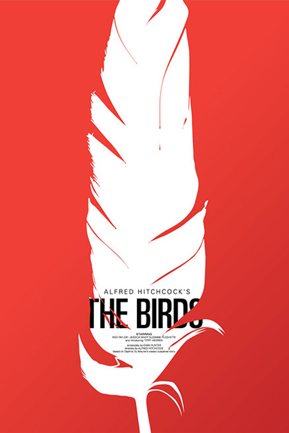 Saul Bass The Birds Movie Poster Ok So This Is Saul Bass Need I Say More I Decided To Stick With The Birds Theme Thi Filmposter Filmposters Zeefdruk