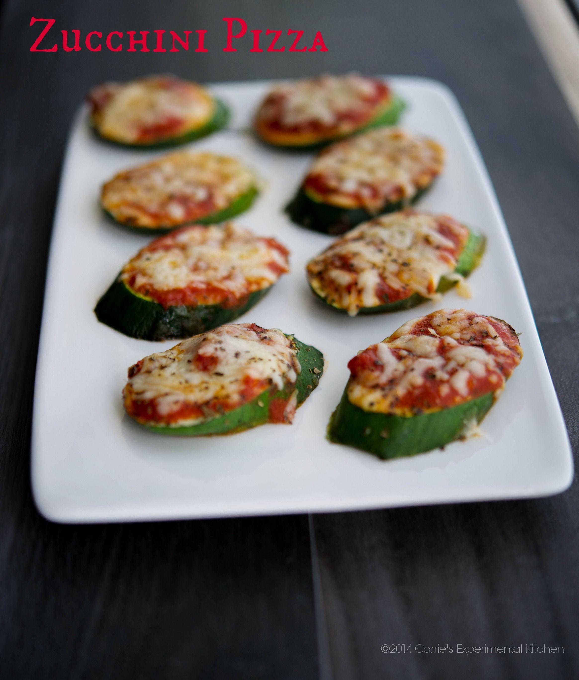 Zucchini Pizzas | Carrie's Experimental Kitchen #zucchini #gameday