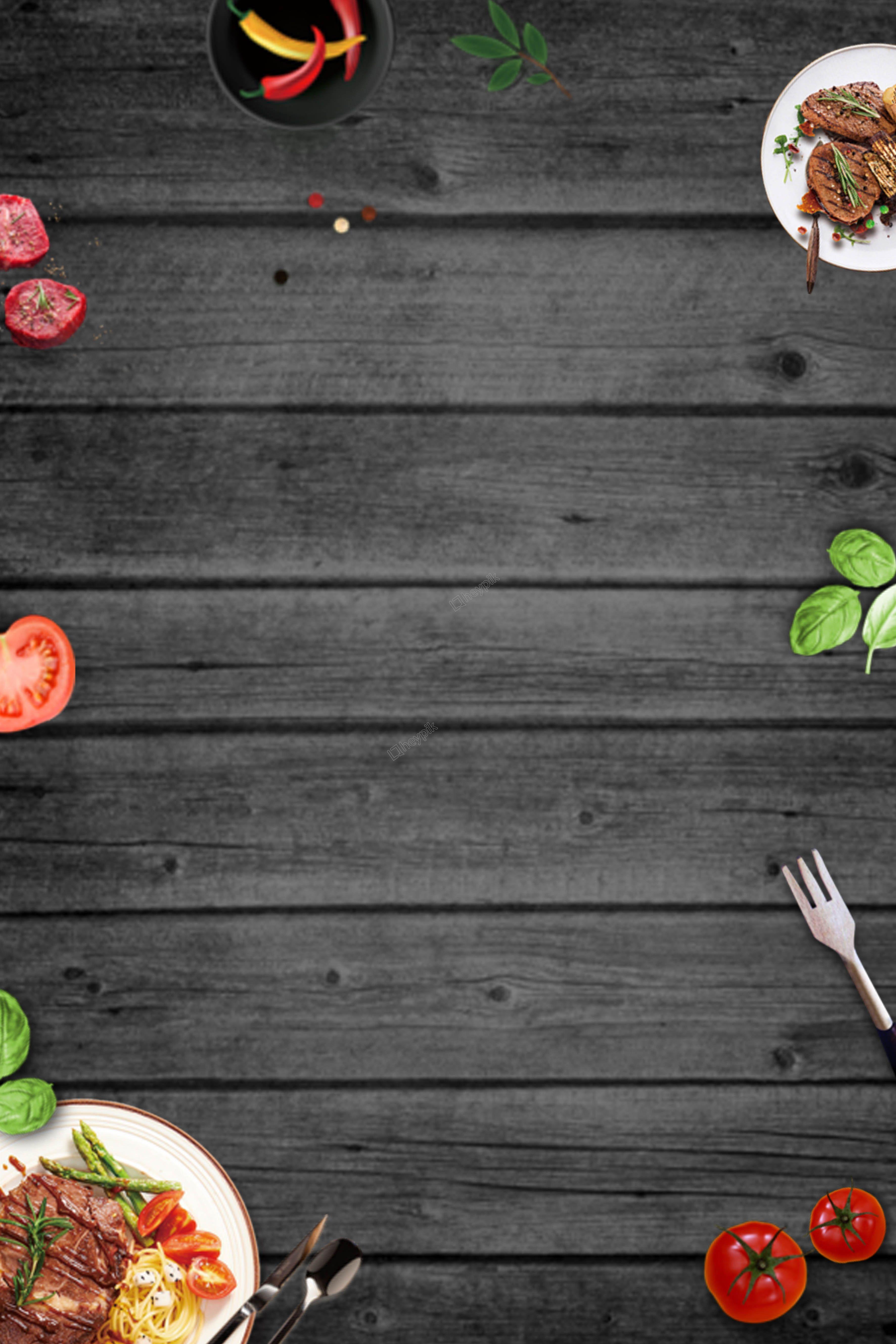 Background Food Png : background, Gourmet, Western, Steak, Minimalistic, Poster, Background, Makanan,, Desain, Menu,, Makanan