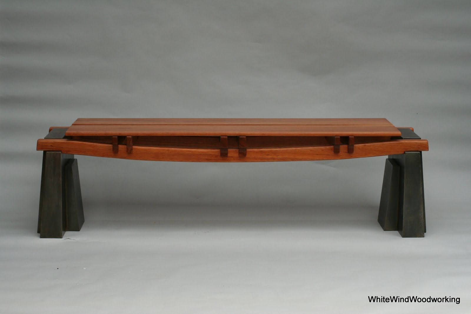 Custom Made Austin Cherry Bench With Steel Leg Available: $3300.00