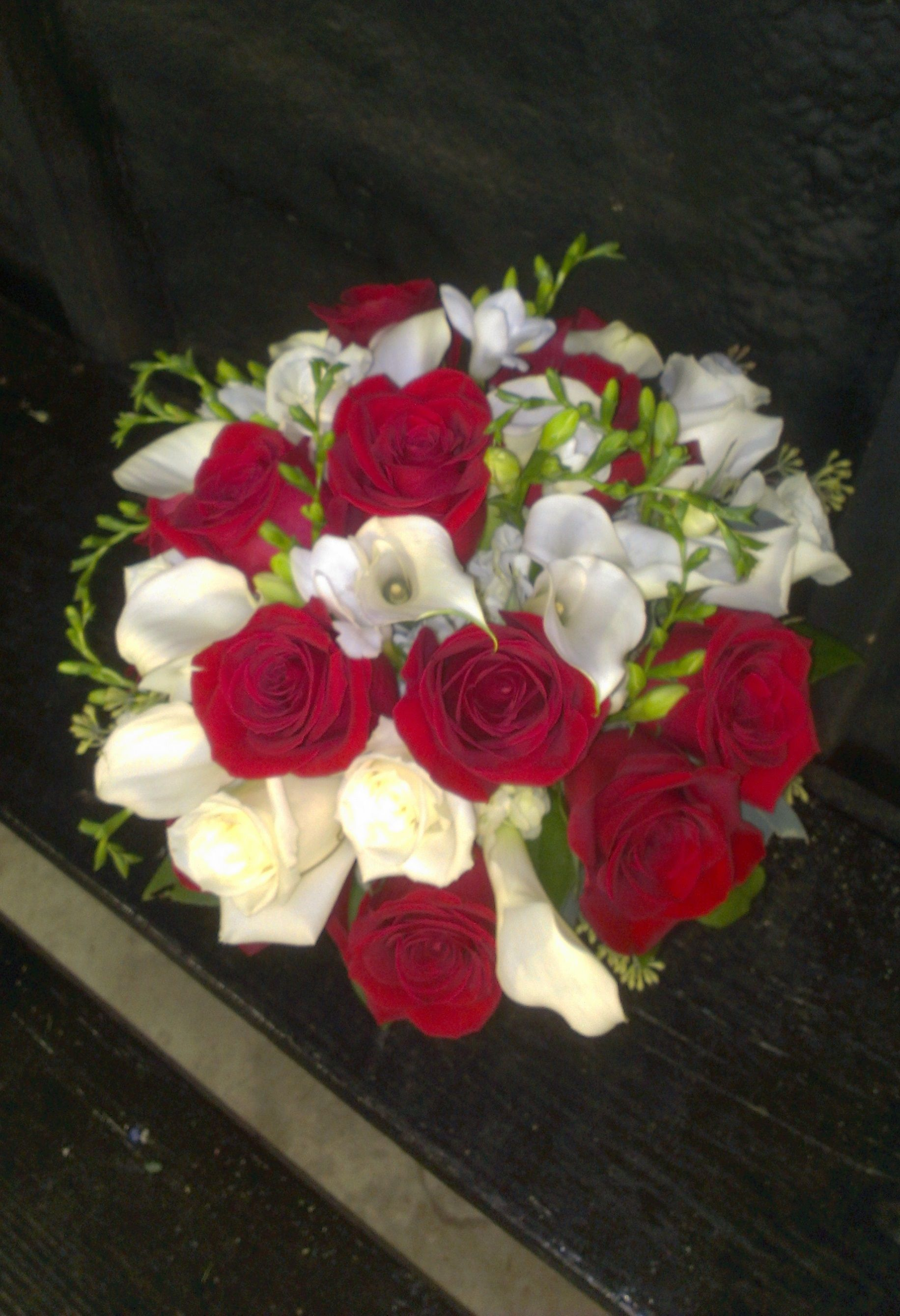 What a beautiful bridal bouquet. A lucky lady will catch this after the wedding! Congrats to everyone! americasflorist.com