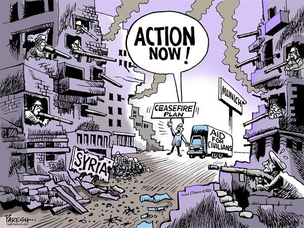 Image result for Syria Ceasefire CARTOON