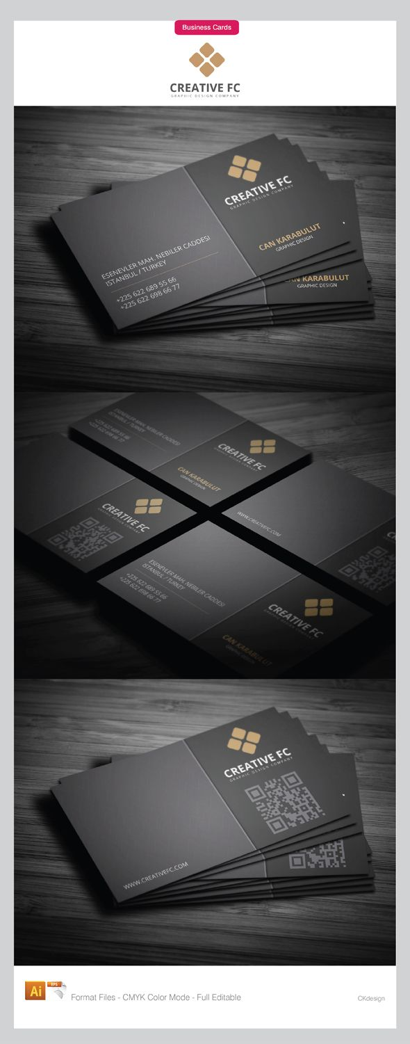 Powerful dark corporate business cards design on dark gray powerful dark corporate business cards design on dark gray background layout divided into two parts reheart Gallery