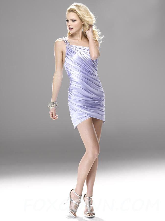 Sexy Mini Prom Kleid mit Satin Rüschen Mieder 💟$257.00 from http ...