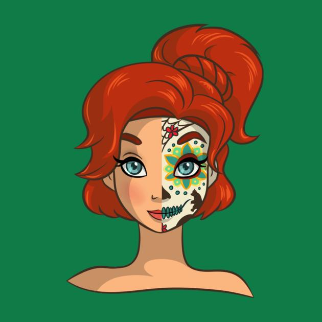 Awesome 'Sugar+Skull+Series%3A+Anya' design on TeePublic!