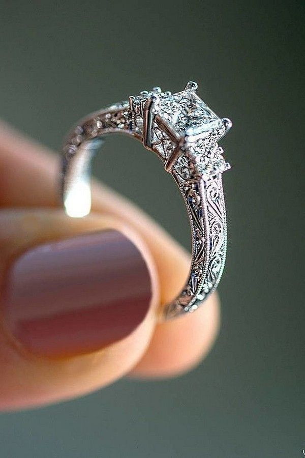 10 Breathtaking Wedding Engagement Rings for 2018 - Beautiful engagement rings, Wedding rings engagement, Fine engagement rings, Wedding rings simple, Wedding rings solitaire, Wedding rings vintage - Engagement ring is very special for every bride and choosing the perfect ring is a very serious deal  This is a thing what you will