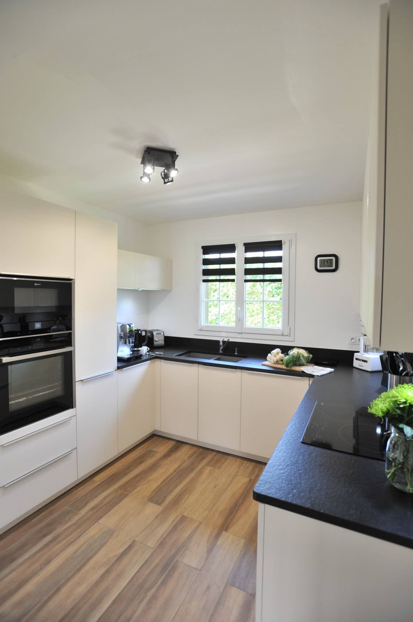 Deco Cuisine Contemporaine Blanche aménagement et décoration cuisine, cuisine blanche et noire