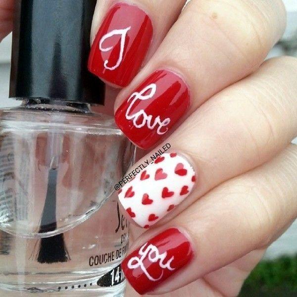 21 Preciosos Disenos De Unas Para San Valentin Para Difundir Amor Nail Designs Valentines Valentines Nails Valentine Nail Art