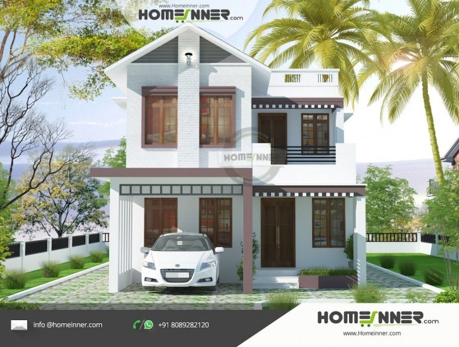 1894 Sq Ft 4 Bedroom Budget House Design India Architectural