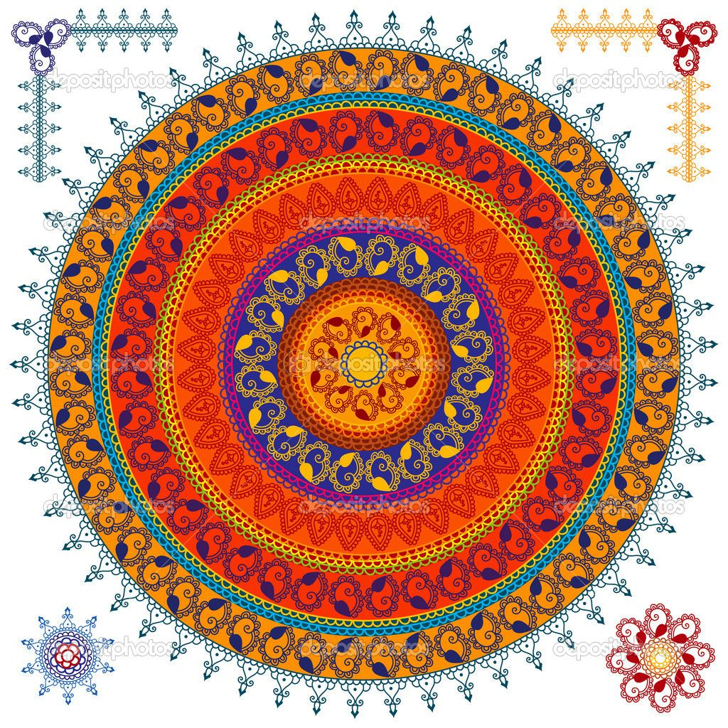 Lotus designs coloring book - Mandala Lotus Designs Mandala Design Vector By