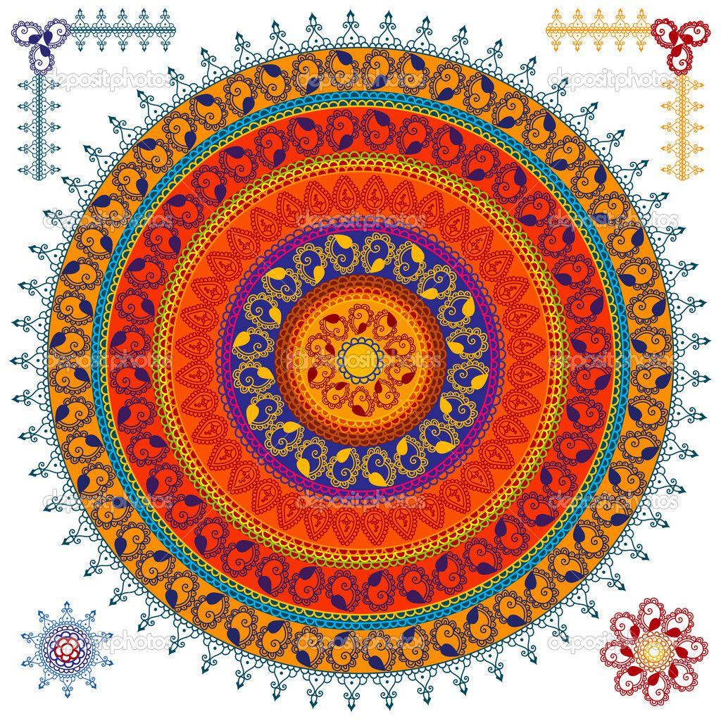 Lotus designs coloring book - Mandala Lotus Designs Mandala Design Vector By