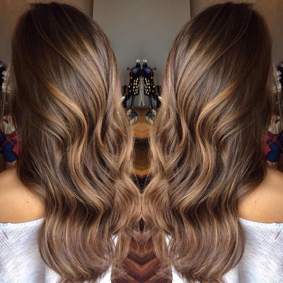 caramel balayage highlights by stylist ashley gagnon of. Black Bedroom Furniture Sets. Home Design Ideas