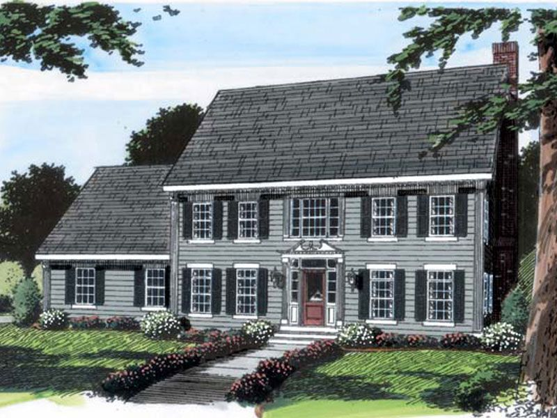 Federal Way Early American Home Colonial House Colonial House Plans Colonial House Exteriors
