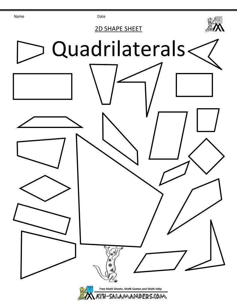 3 Worksheet Fifth Grade Math Worksheets Shape Pin On 4th Grade Math In 2020 Free Math Worksheets Math Worksheets Quadrilaterals Worksheet