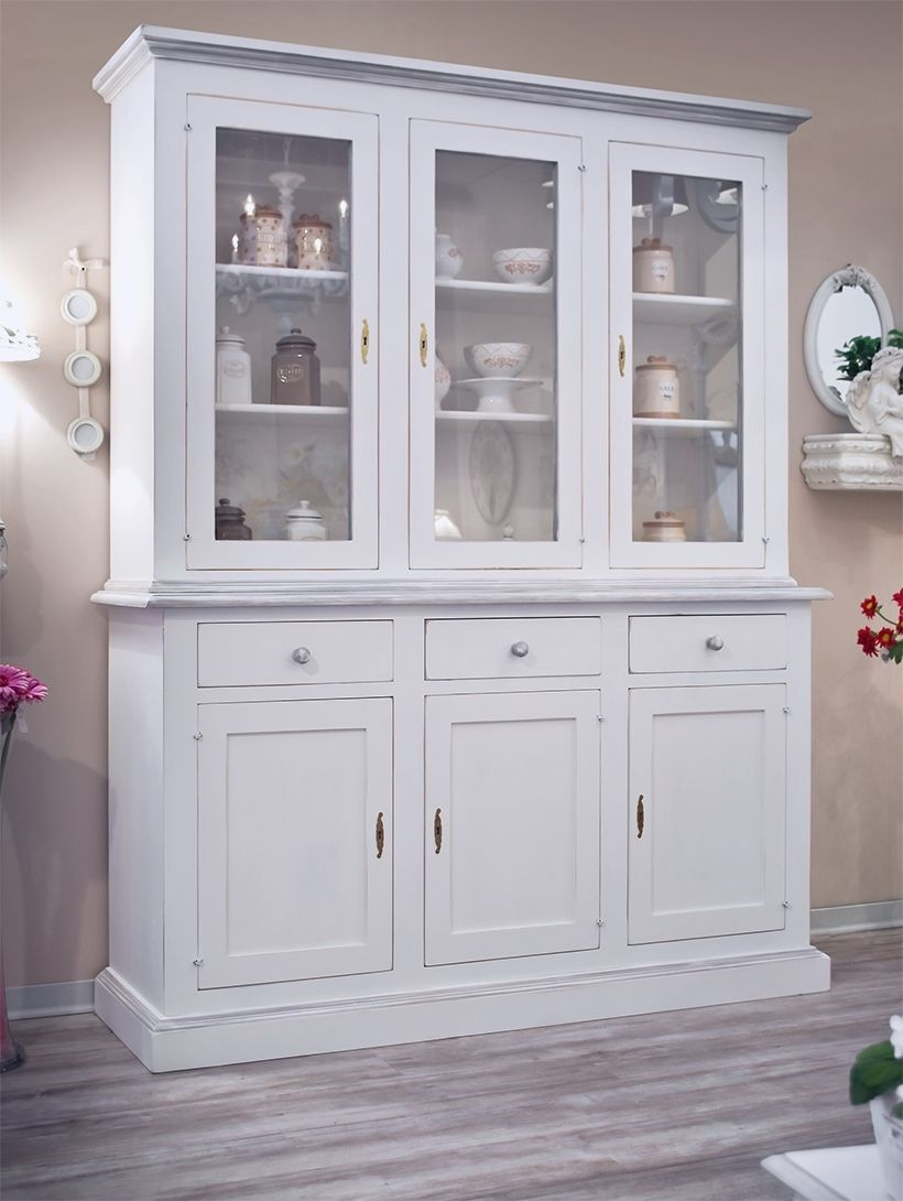 Credenza Bianca Provenzale Shabby Chic Country Credenze ...