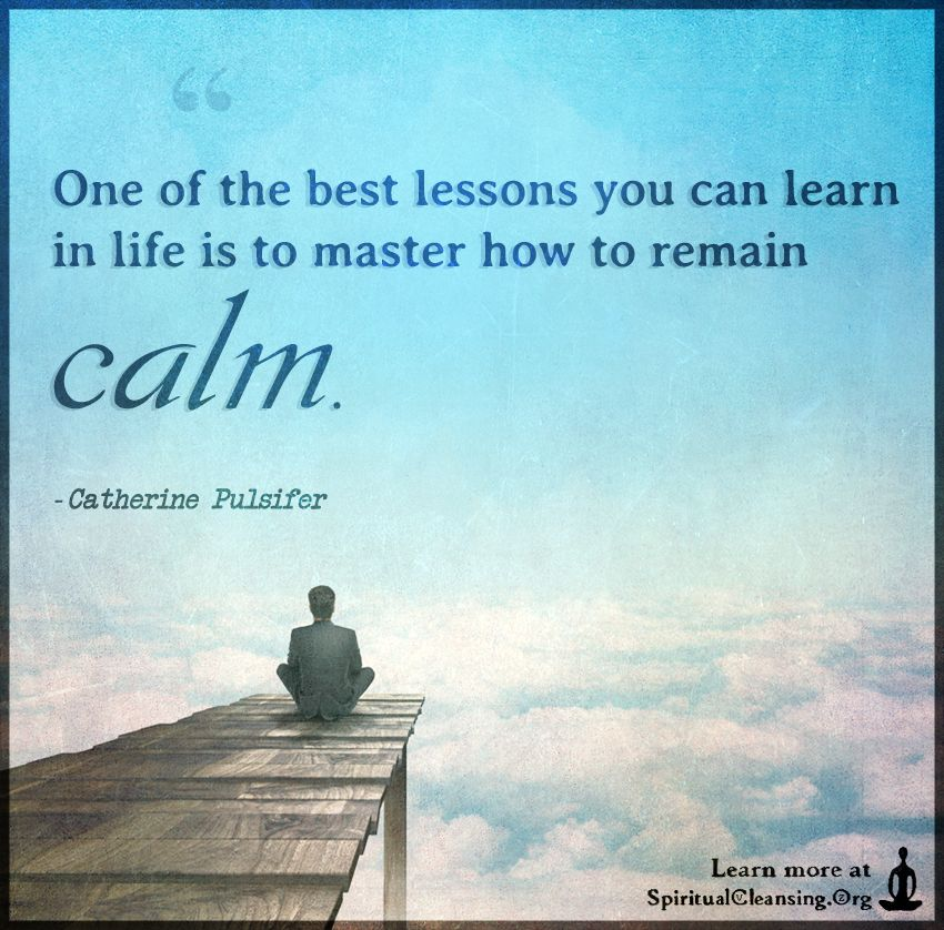 One of the best lessons you can learn in life is to master ...