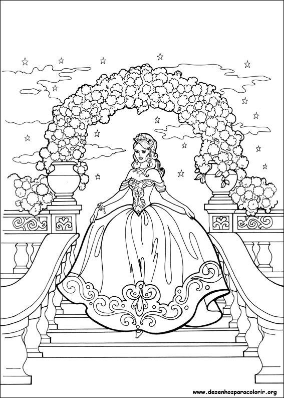 Desenhos para colorir da princesa Leonora | Princesas, Pinturas y Dibujo