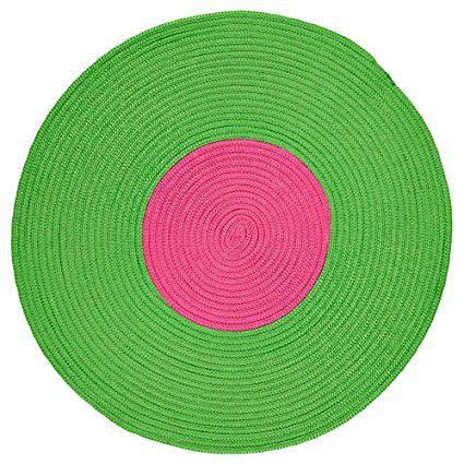 IKEA Teppich STICKAT rund Flechtteppich in 3 Farben (grün