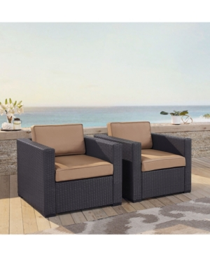 Biscayne 2 Person Outdoor Wicker Seating Set 2 Outdoor Wicker