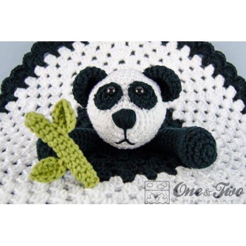 Panda Lovey Security Blanket Crochet Pattern