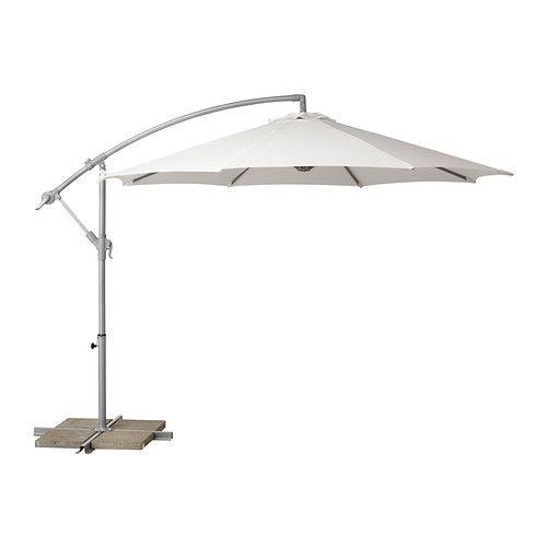 BAGGÖN Riippuva auringonvarjo - valkoinen  - IKEA
