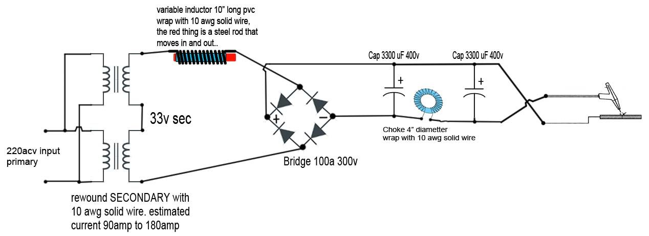 dc arc welding machine circuit diagram