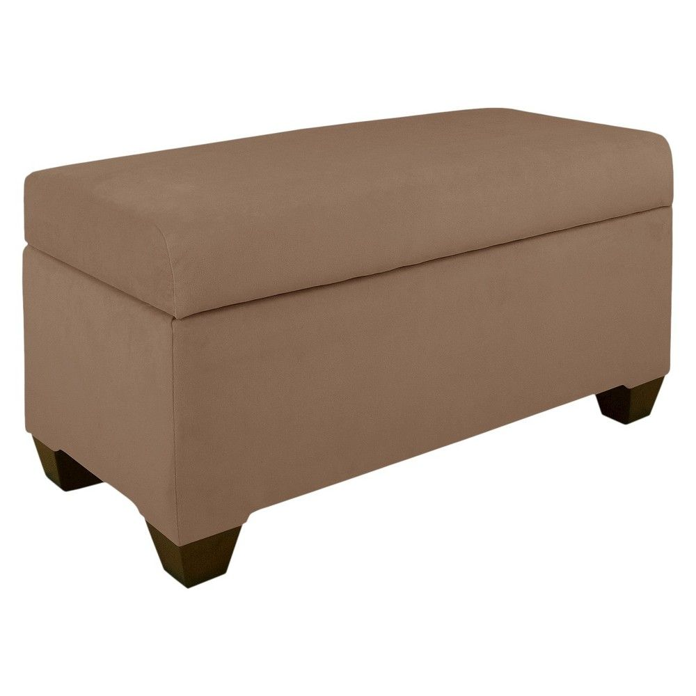 Captivating Skyline Custom Upholstered Storage Bench   Skyline Furniture,