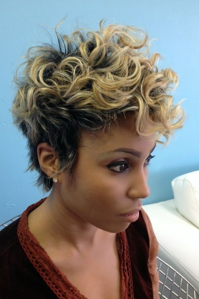 Curly Pixie Haircut Black Women Short Hairstyles