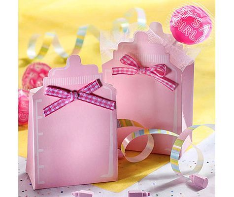 Pink Bottle Baby Shower Favor Box Kit 24ct   Party City
