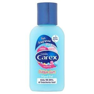 Carex Bubble Gum Hand Gel 50ml Gel Bubbles Bubble Gum