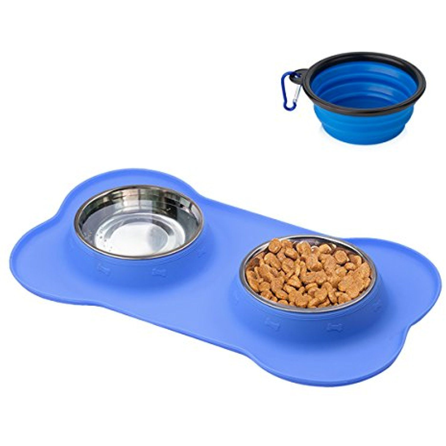TryAce Dog Bowl Stainless with No Spill No Skid Silicone