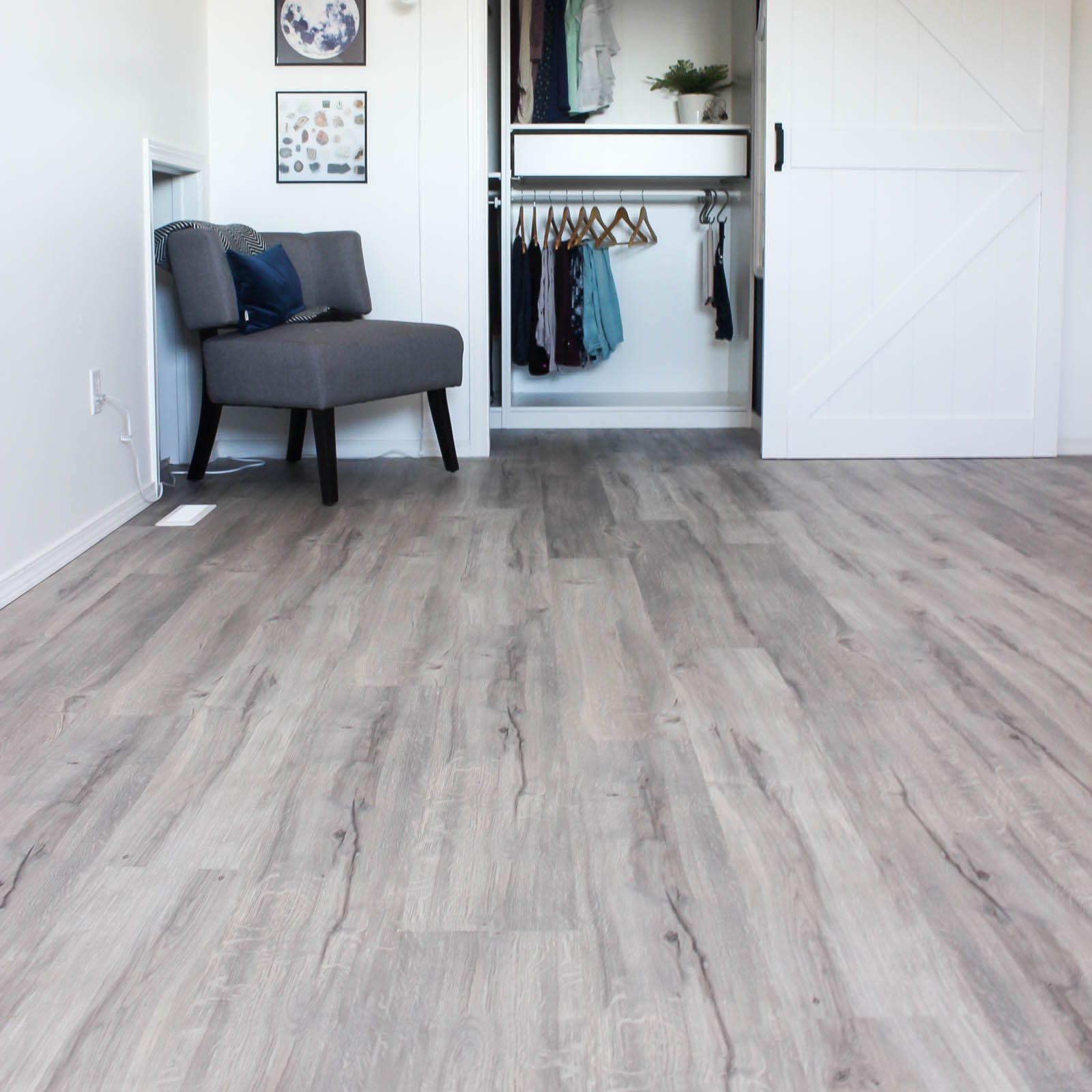 An easy step-by-step guide to installing vinyl plank flooring! A