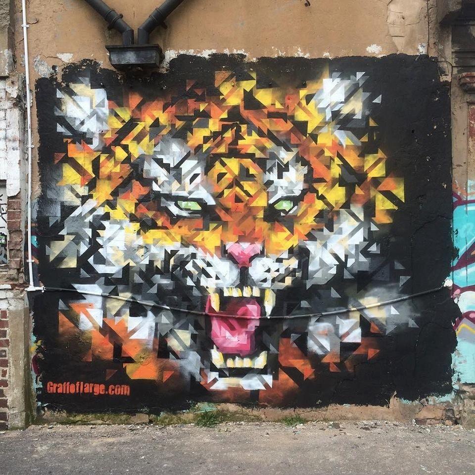 Graffoflarge in Birmingham, UK, 2016