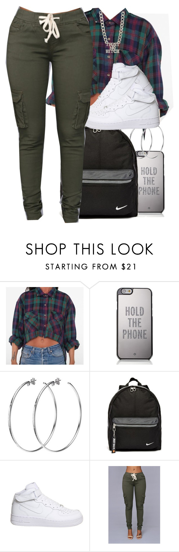 """Look At You Bixtch Look At Me"" by prettygurl21 ❤ liked on Polyvore featuring Kate Spade, DKNY and NIKE"
