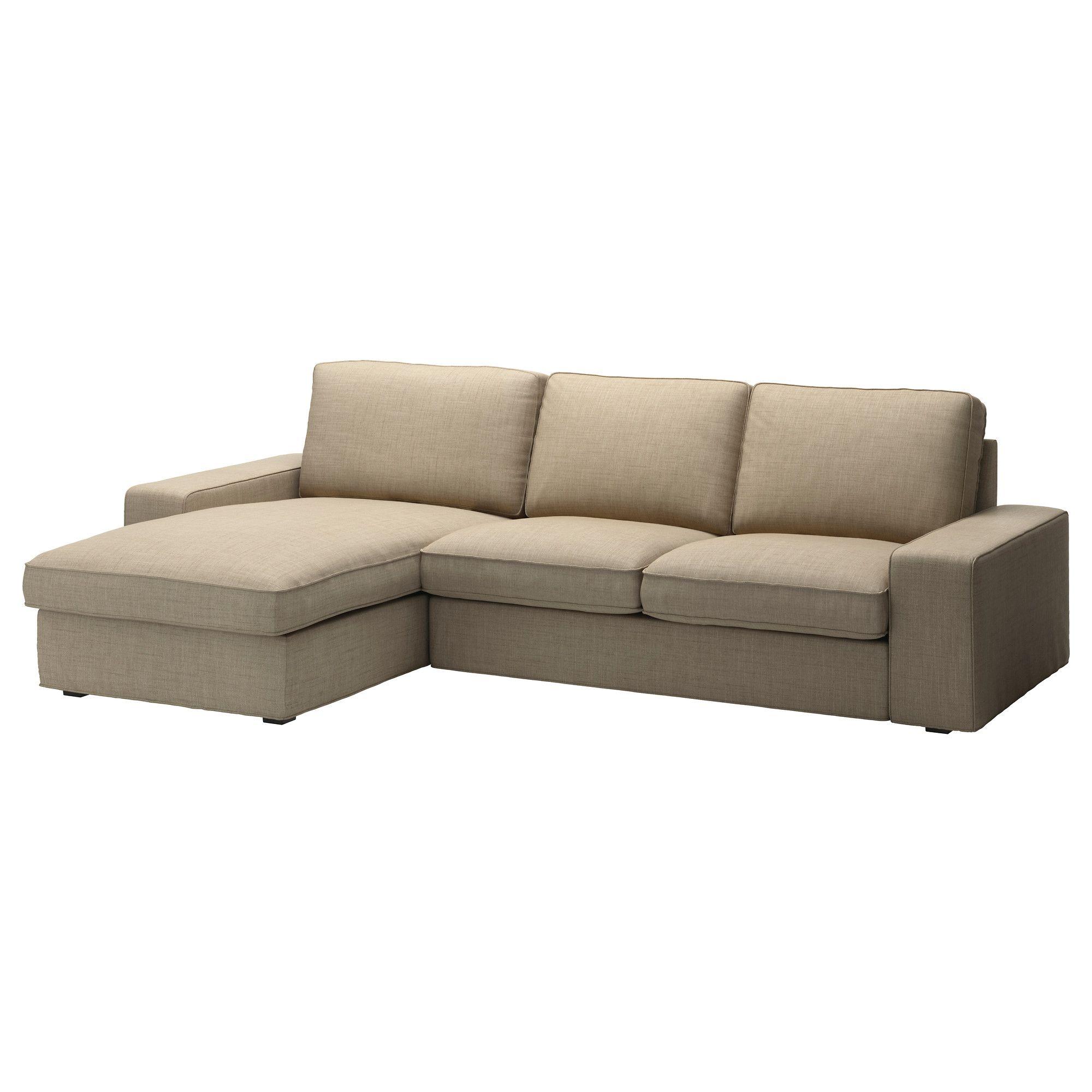 Kivik Loveseat And Chaise Lounge Isunda Beige Ikea