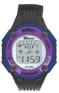 LED Digital Watch with Calendar, 30m Water Resistance Purple for Women Item No. : 55555 Price : $4.99 Category : Sport Watches