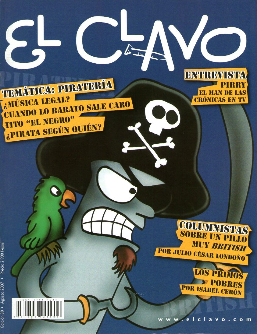 Claverto Pirata  Revista El Clavo 2007