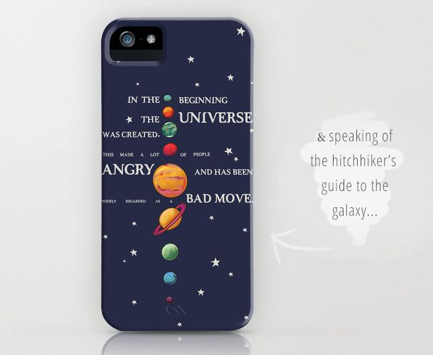 The Hitchhiker S Guide To The Galaxy Iphone Case Iphone Cases Case Galaxy