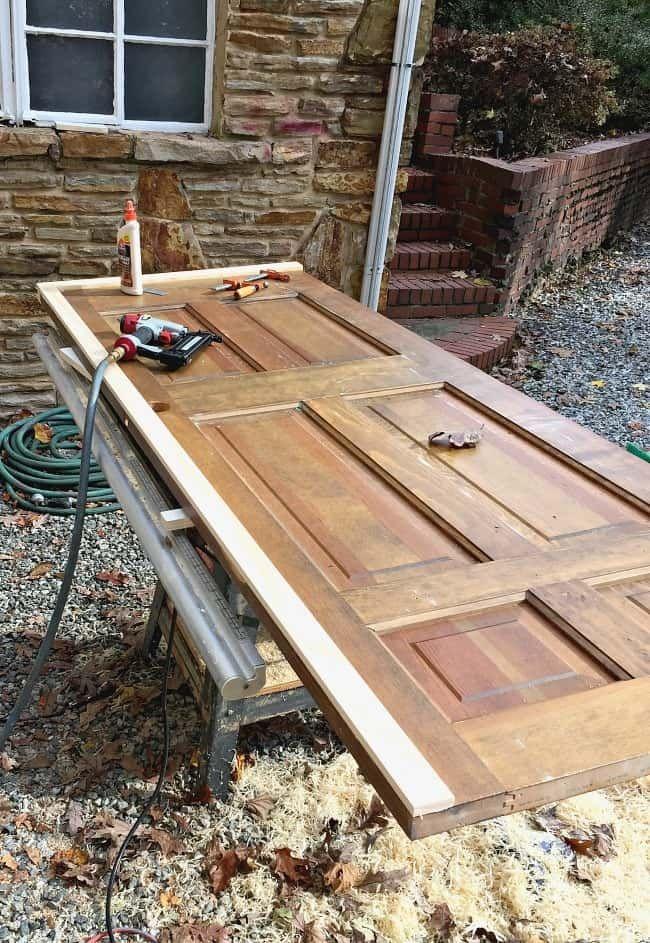 DIY Barn Door with Mirror | Cheap barn doors, Old wood ...