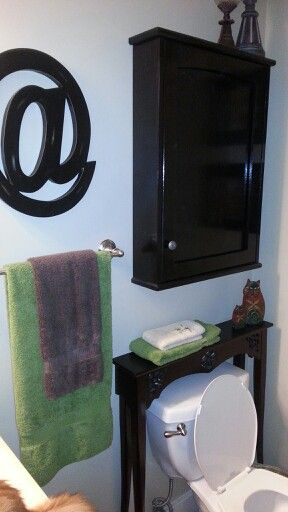 Small Console Table Above Toilet My Projects Small