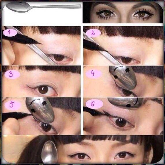 Eye-liner with ... SPOON ‼️ DIY
