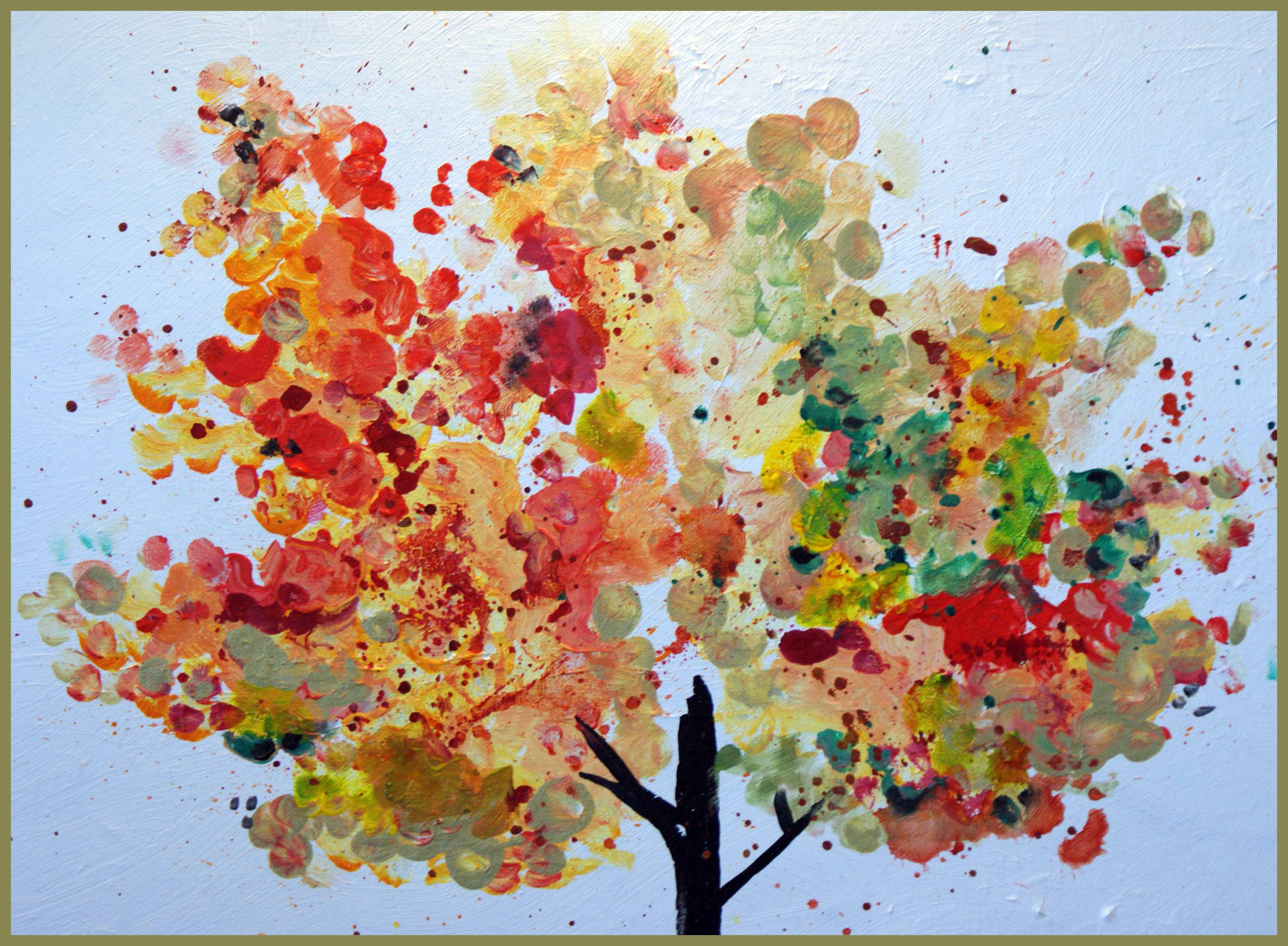 Learn More About The Finer Points Of Finger Painting Fall Tree