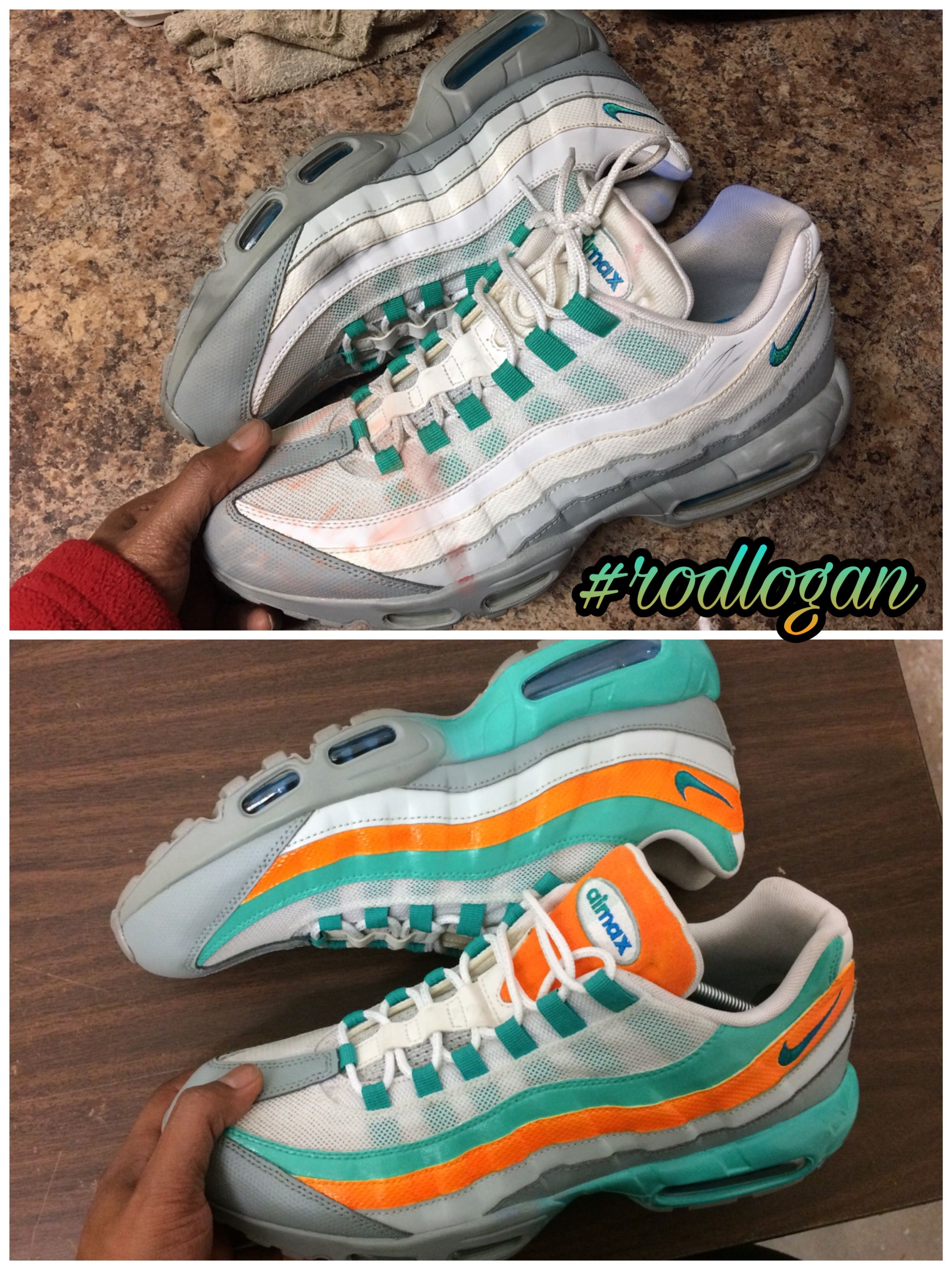 Miami Dolphins 95 airmax Custom in 2019 | Running shoes