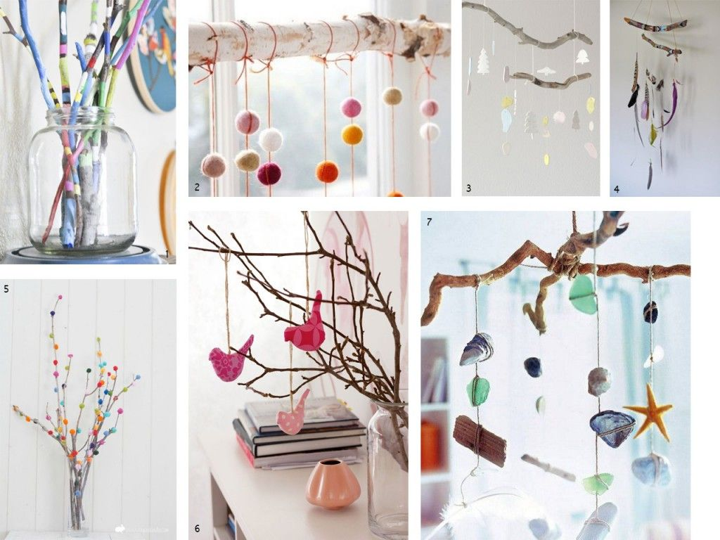 El bosque en casa ramas troncos y manualidades en madera - Decoraciones para habitaciones ...