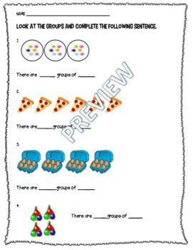 Multiplication Grouping Worksheet or Assessment *RECENTLY ...