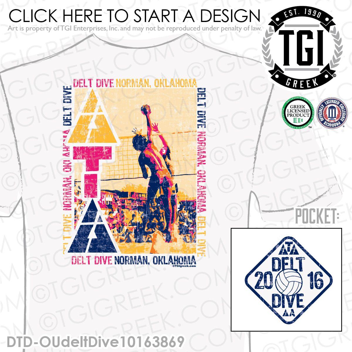 Delta Tau Delta Dtd T Delt Dive Philanthropy T Shirts