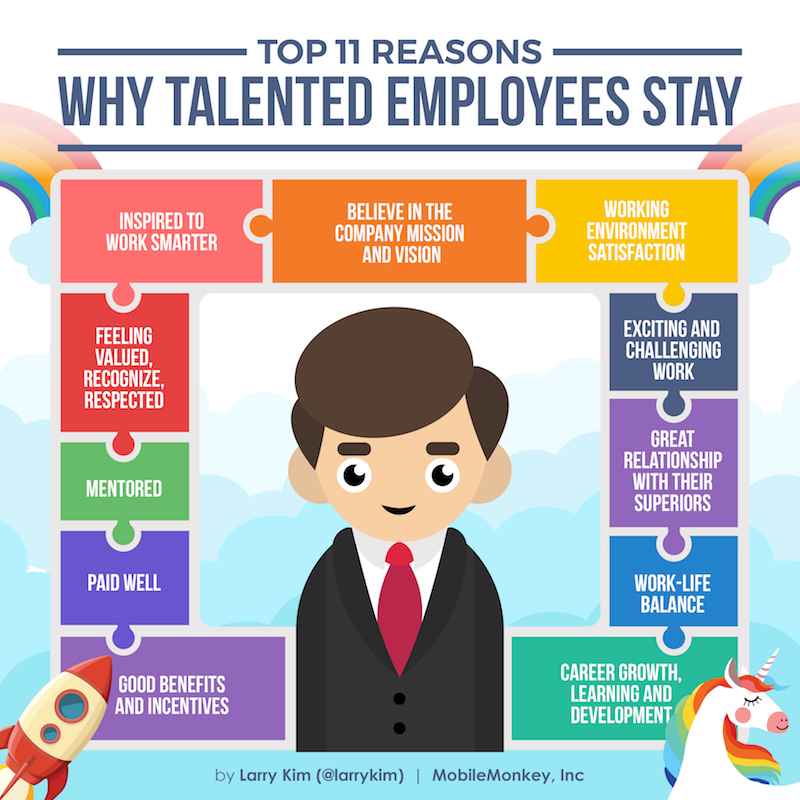 #Infographic: Top 11 Reasons Why Talented Employees Stay