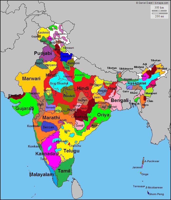Carte Inde Langues.Ethno Linguistic Groups Of India Cartes D Histoire Geo