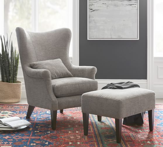 Champlain Wingback Upholstered Armchair Upholstered Chairs Arm Chairs Living Room Upholstered Arm Chair