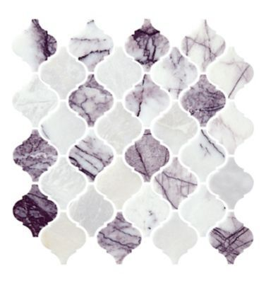 milas lilac polished marble arabesque wall and floor tile